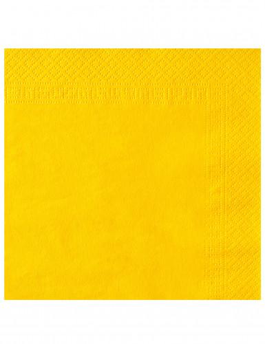 50 Serviettes jaune vif 38 x 38 cm