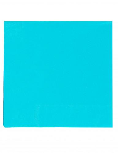 50 Serviettes turquoise 38 x 38 cm