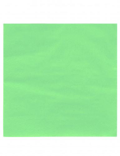 50 Serviettes vert clair 38 x 38 cm