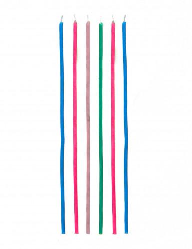 18 Bougies longues colorées