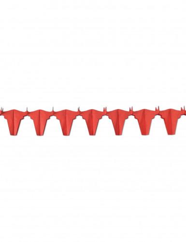 Guirlande papier ignifugé taureau rouge 4.5 m