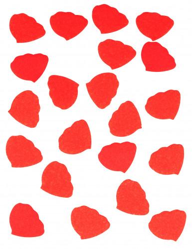 Confettis pétales de rose en papier rouge 50g