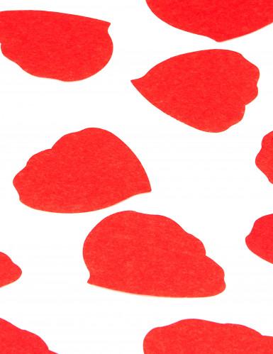 Confettis pétales de rose en papier rouge 50g-1