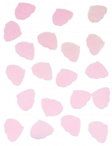 Confettis pétales de rose en papier rose 50g