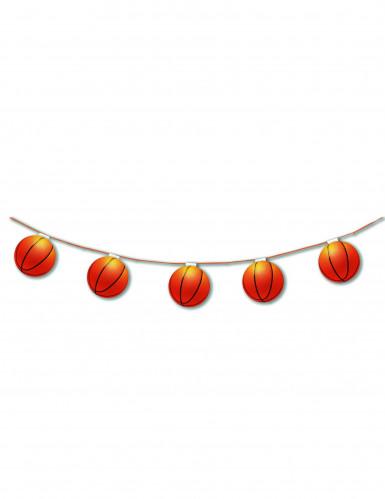 Guirlande papier ignifugé 8 Ballons de basket 3,20 m