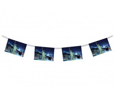 Guirlande New-York papier ignifugé 4 m