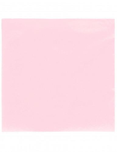 50 Serviettes rose pastel 38 x 38 cm