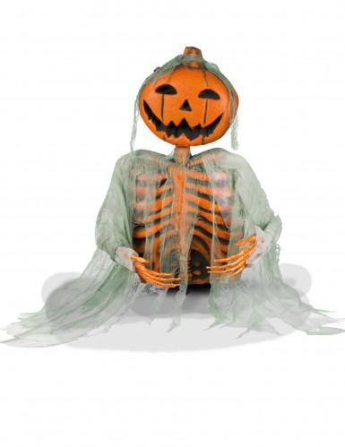 Décoration squelette citrouille 52 cm Halloween