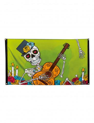 Bannière Dia de los muertos 90 x 150 cm