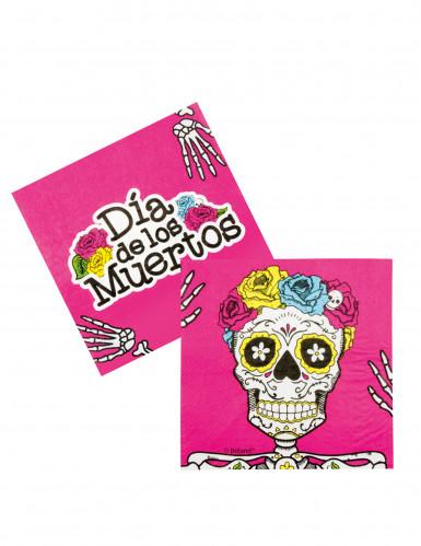 12 Serviettes en papier Dia de los muertos 33 x 33 cm
