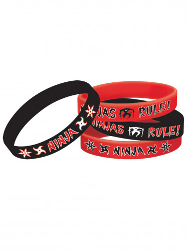 4 Bracelets caoutchouc Ninja