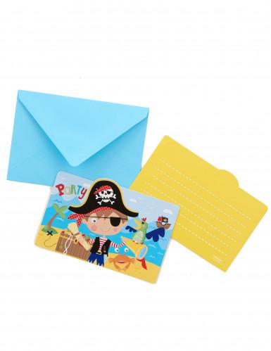 8 cartes d'invitation + enveloppes Petit moussaillon