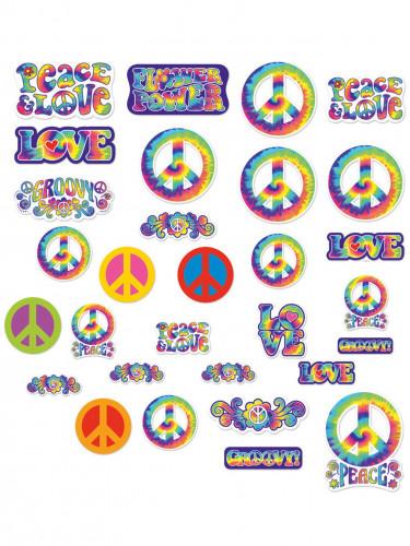 30 décorations cartonnées Hippie