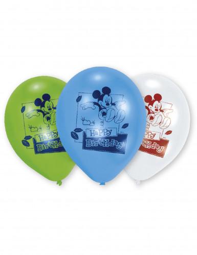 6 ballons latex Happy Birthday Mickey™