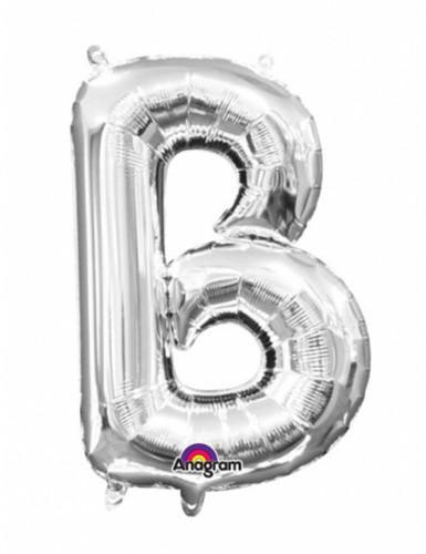 Ballon aluminium Lettre B argent 33 cm
