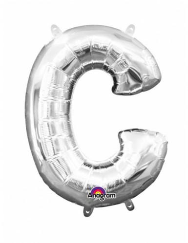 Ballon aluminium Lettre C argenté 33 cm