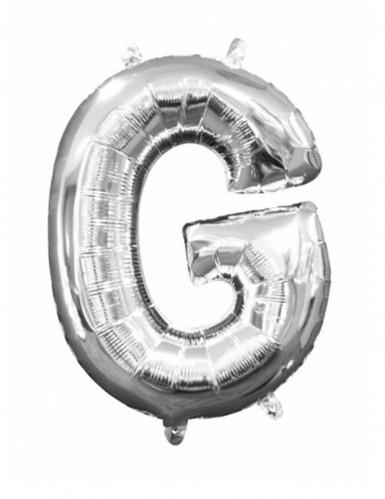Ballon aluminium Lettre G argent 33 cm