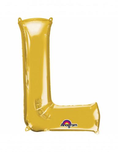 Ballon aluminium Lettre L doré 33 cm