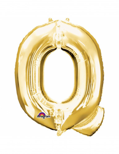 Ballon aluminium Lettre Q doré 33 cm