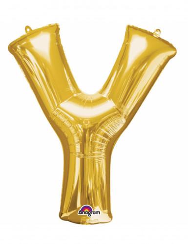 Ballon aluminium Lettre Y doré 35 cm