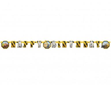 Guirlande Happy Birthday Chantier 180 cm
