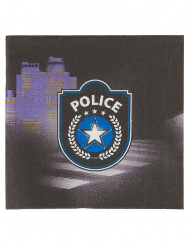 20 Serviettes en papier Police 33 x 33 cm-1