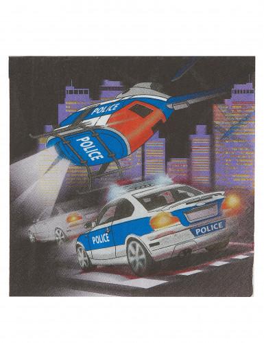 20 Serviettes en papier Police 33 x 33 cm