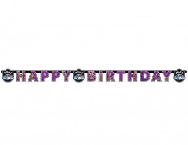 Guirlande Happy Birthday Police 1,80 m