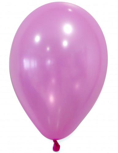 50 Ballons roses métallisés