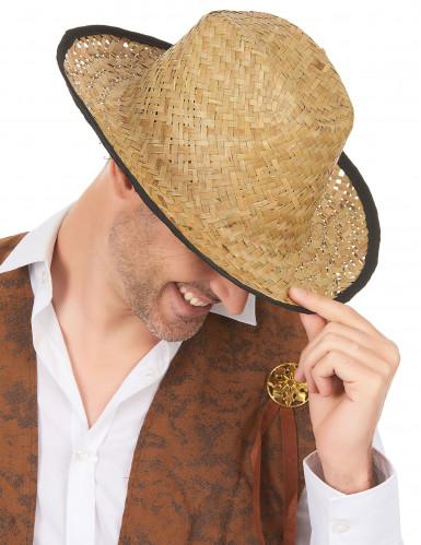 Chapeau Cowboy avec rebord noir adulte-1