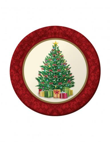 8 Petites assiettes Sapin de Noël 18 cm
