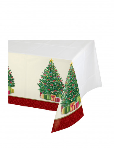 Nappe en plastique Sapin de Noël 137 x 259 cm