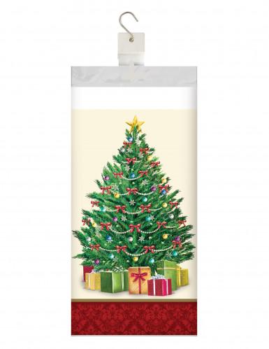 Nappe en plastique Sapin de Noël 137 x 259 cm-1