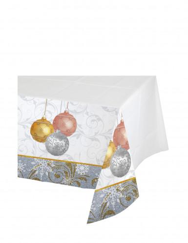 Nappe en plastique Paillettes de Noël 137 x 259 cm