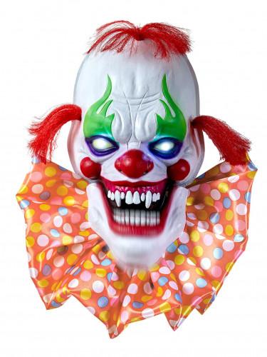 Décoration lumineuse et sonore clown effrayant 58 cm Halloween
