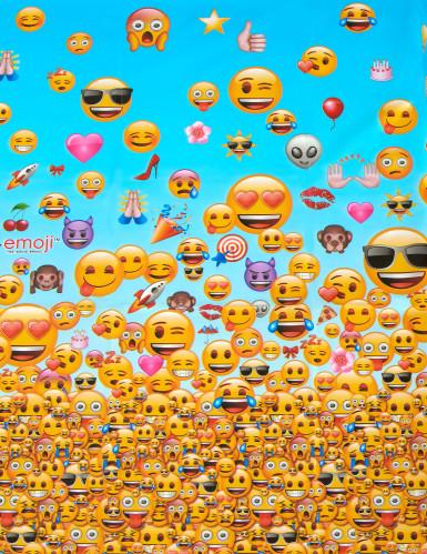 Nappe plastique 1,37m x 2,13m Emoji ™-1