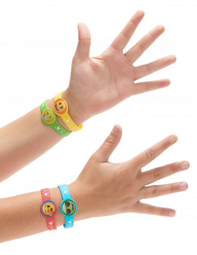 4 Bracelets en caoutchouc Emoji™-1