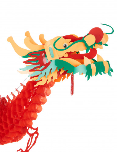 D coration dragon rouge 2 5 m nouvel an chinois for Decoration gateau nouvel an