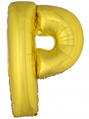 Ballon aluminium géant lettre P doré 1m