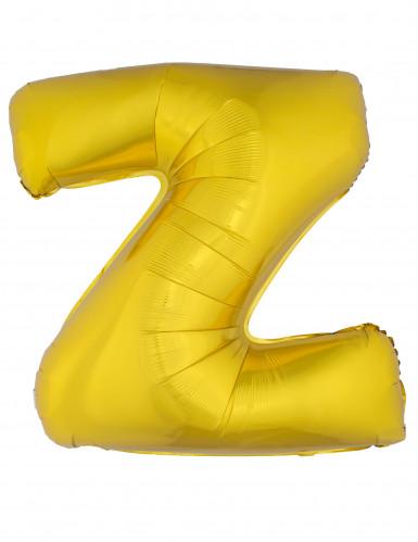 Ballon aluminium géant lettre Z doré 1m
