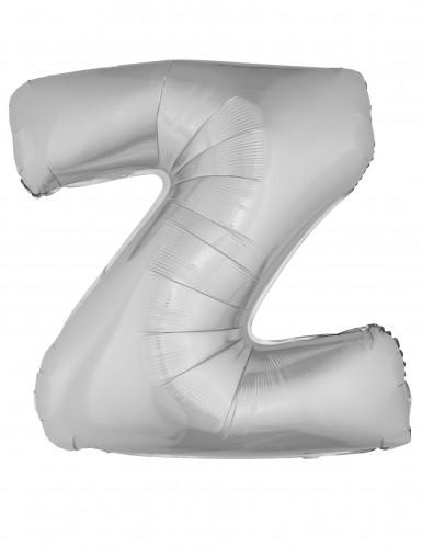 Ballon aluminium géant lettre Z argenté 1m