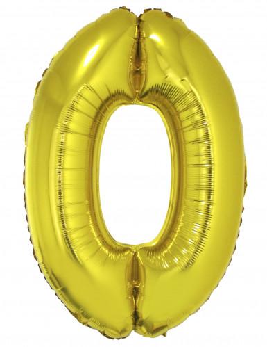 Ballon aluminium chiffre 0 doré 102 cm