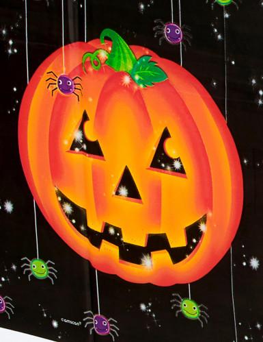 Nappe en plastique citrouille Halloween-1