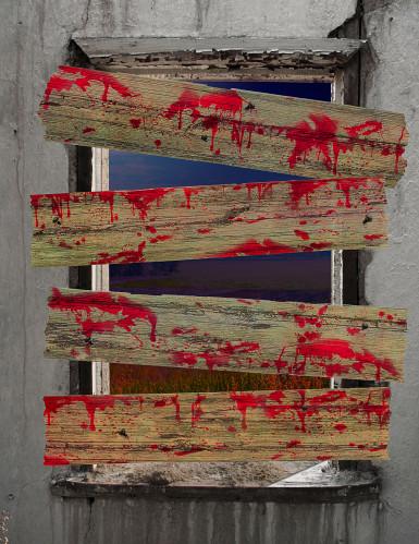 Décorations barricades de zombie -1
