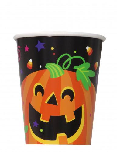 8 gobelets en carton citrouille et compagnie Halloween 25 cl