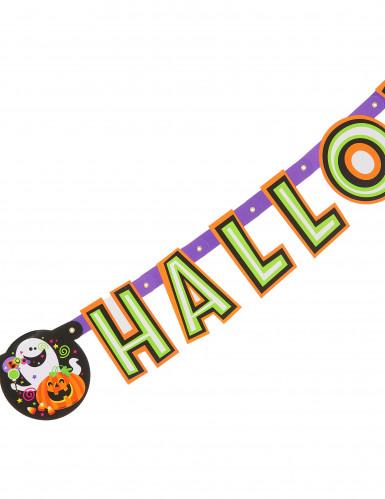 Guirlande articulée citrouille et compagnie Happy Halloween-1