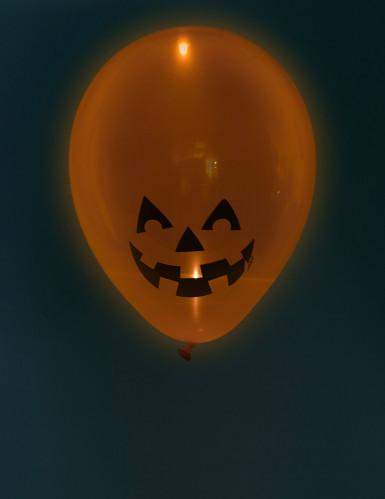 5 Ballons led citrouille Halloween-1