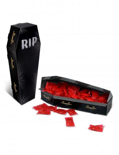 Centre de table cercueil en carton RIP Halloween