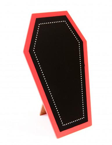 Cercueil gothique porte menu halloween