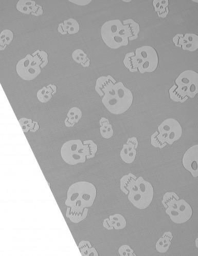 Chemin de table tête de mort halloween-1